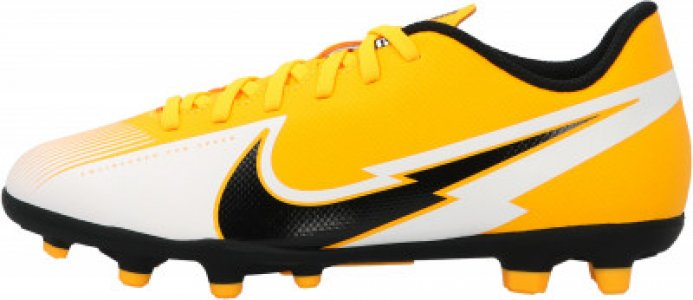 Бутсы для мальчиков Jr Vapor 13 Club FG/MG, размер 36.5 Nike. Цвет: оранжевый