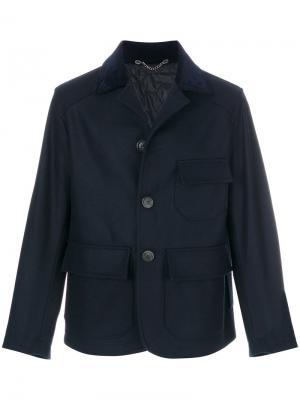 Пиджак с карманами карго Doppiaa. Цвет: синий