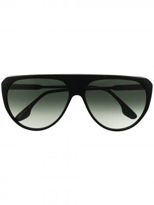 Солнцезащитные очки-авиаторы 001 Victoria Beckham Eyewear. Цвет: черный