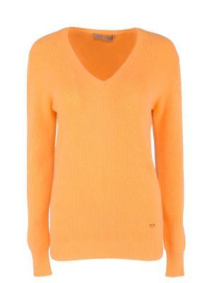 Кашемировый пуловер Cruciani. Цвет: оранжевый