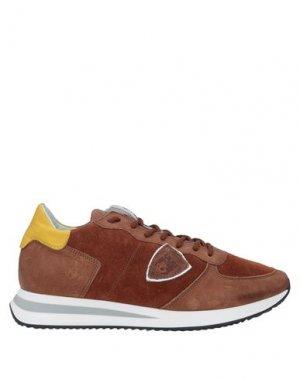 Кеды и кроссовки PHILIPPE MODEL. Цвет: желто-коричневый