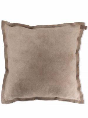 Замшевая подушка с декором Monili Brunello Cucinelli. Цвет: нейтральные цвета