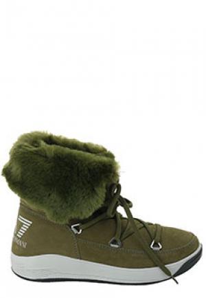 Сапоги EA7. Цвет: зеленый