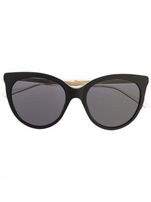 Солнцезащитные очки с прозрачными дужками Gucci Eyewear. Цвет: черный