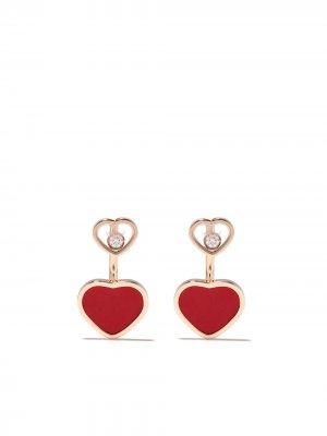Серьги Happy Hearts из розового золота Chopard. Цвет: розовый
