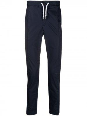 Спортивные брюки кроя слим с кулиской Daniele Alessandrini. Цвет: синий