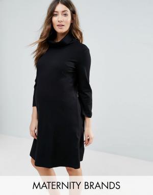 Платье-туника Marlow Isabella Oliver. Цвет: черный