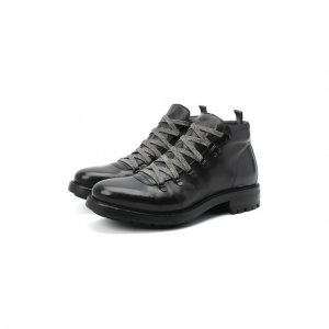 Кожаные ботинки Alexander Hotto. Цвет: чёрный