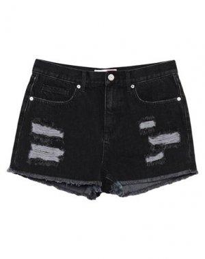 Джинсовые шорты JUICY COUTURE. Цвет: черный