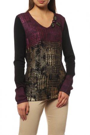 Джемпер Philippe Carat. Цвет: черный, фиолетовый