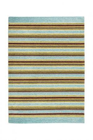 Ковер 75x160 см, двухсторонний Giz Home. Цвет: бирюзовый, коричневый