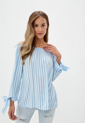 Блуза Fresh Made. Цвет: голубой
