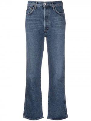 Расклешенные джинсы с завышенной талией AGOLDE. Цвет: синий
