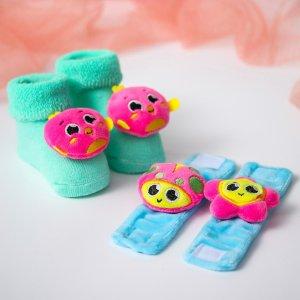 Подарочный набор: браслетики+носочки погремушки Крошка Я
