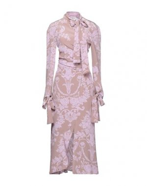 Длинное платье ACNE STUDIOS. Цвет: светло-коричневый