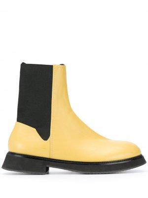 Ботинки челси на плоской подошве Nina Ricci. Цвет: желтый