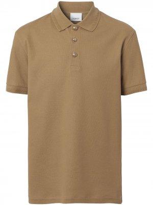 Рубашка поло из ткани пике Burberry. Цвет: коричневый