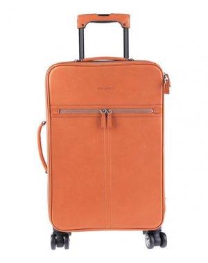 Чемодан/сумка на колесиках DSQUARED2. Цвет: желто-коричневый
