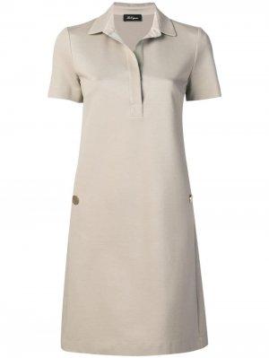 Однотонное платье-поло Les Copains. Цвет: нейтральные цвета