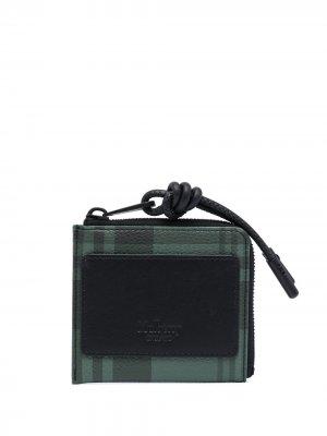 Клетчатый кошелек на молнии Mulberry. Цвет: черный