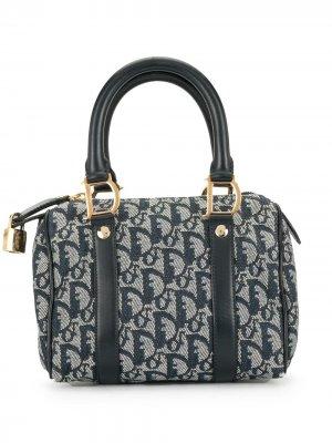 Маленькая сумка-тоут с узором Trotter Christian Dior. Цвет: синий