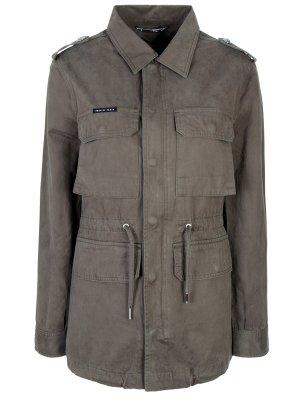 Джинсовая куртка Philipp Plein. Цвет: зеленый