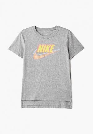 Футболка Nike Sportswear Girls T-Shirt. Цвет: серый