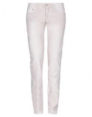 Джинсовые брюки E-GÓ. Цвет: светло-розовый