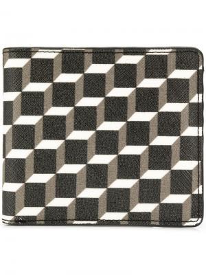Маленький кошелек с геометрическим принтом Pierre Hardy. Цвет: черный