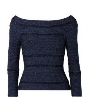 Блузка HERVÉ LÉGER. Цвет: темно-синий