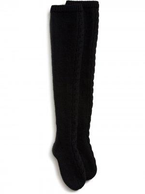 Однотонные гольфы Dolce & Gabbana. Цвет: черный