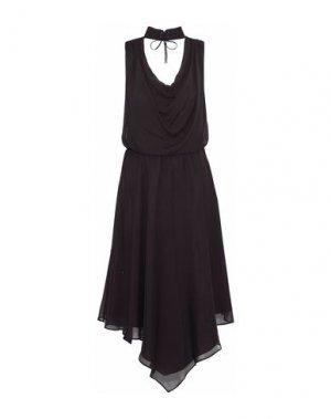 Платье длиной 3/4 HAUTE HIPPIE. Цвет: темно-коричневый
