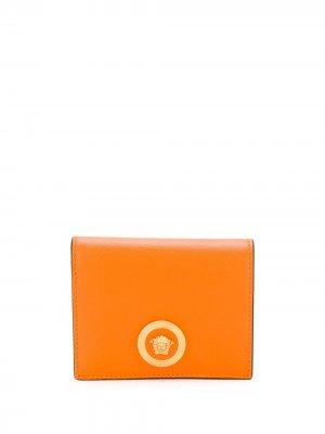 Бумажник с декором Medusa Versace. Цвет: оранжевый