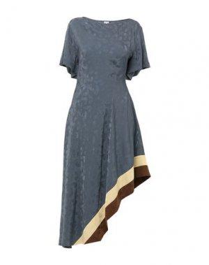 Короткое платье LOEWE. Цвет: грифельно-синий