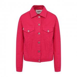Джинсовая куртка MSGM. Цвет: розовый
