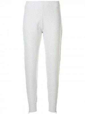 Кашемировые спортивные брюки в рубчик DUFFY. Цвет: серый