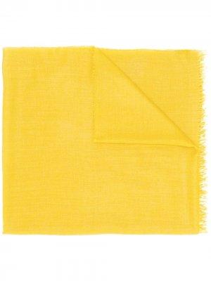 Шарф тонкой вязки Begg & Co. Цвет: желтый