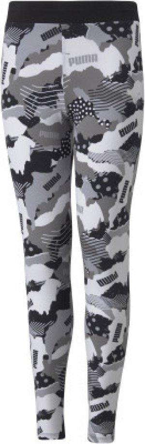 Легинсы для девочек Alpha, размер 140-146 Puma. Цвет: черный