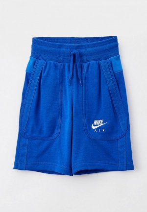 Шорты спортивные Nike B NSW AIR FT SHORT. Цвет: синий
