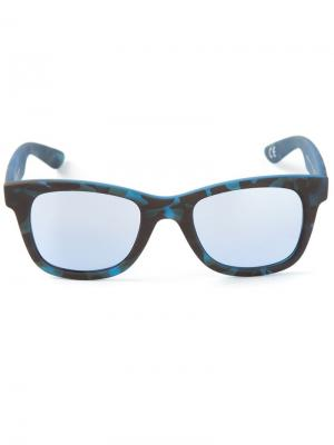 Солнцезащитные очки в камуфляжный принт I-Gum Italia Independent. Цвет: синий