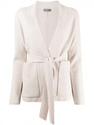 Кашемировый кардиган-пальто с поясом N.Peal. Цвет: нейтральные цвета