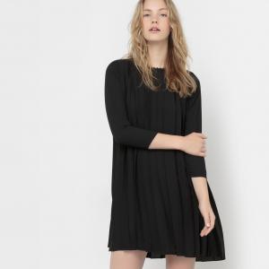 Платье плиссированное Roi KARL MARC JOHN. Цвет: черный