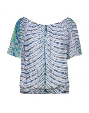 Блузка AGOGOA. Цвет: белый