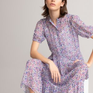 Платье-миди LaRedoute. Цвет: разноцветный