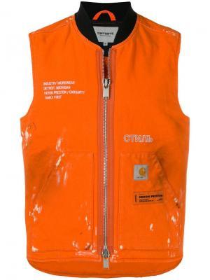 Жилет x Carhartt WIP Heron Preston. Цвет: оранжевый