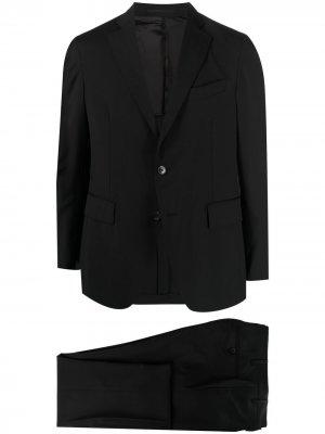 Костюм узкого кроя с однобортным пиджаком Gabriele Pasini. Цвет: черный