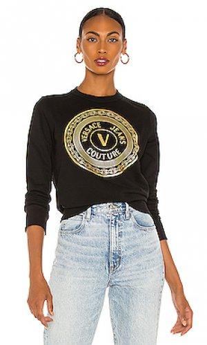 Свитшот logo Versace Jeans Couture. Цвет: черный
