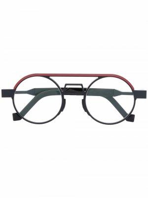 Очки в круглой оправе VAVA Eyewear. Цвет: черный