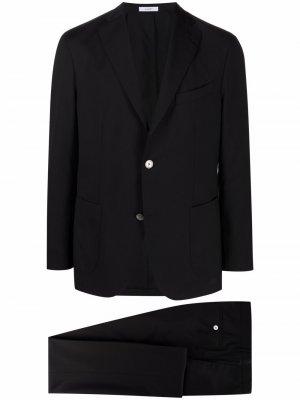 Строгий пиджак Boglioli. Цвет: черный