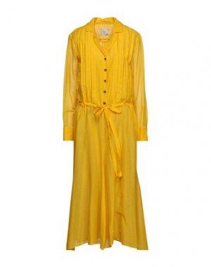 Платье миди ALYSI. Цвет: желтый